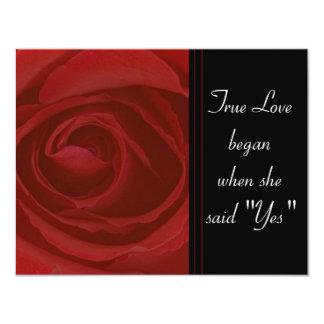 Amor verdadero subió invitación 10,8 x 13,9 cm