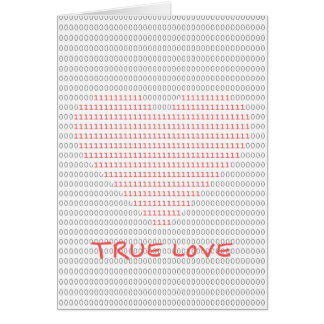 Amor verdadero tarjeta de felicitación