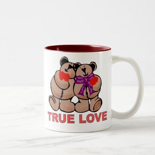 Amor verdadero taza de café de dos colores