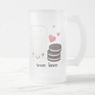 Amor verdadero taza de cristal