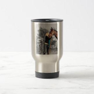 Amor verdadero taza de viaje de acero inoxidable