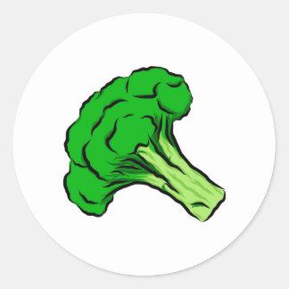 Amor verde de las verduras del arte del dibujo del pegatina redonda