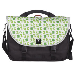 Amor verde del trébol bolsa para ordenador