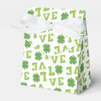 Amor verde del trébol cajas para regalos de boda