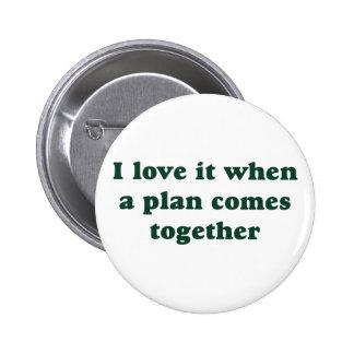 Amor verde oscuro de I él botón Pins