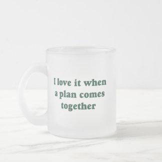 Amor verde oscuro de I él taza