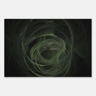 Amor verde oscuro del fractal carteles
