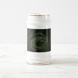 Amor verde oscuro del fractal taza de café
