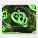 Amor verde tapete de ratones