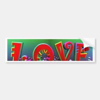 amor vibrante pegatina para auto