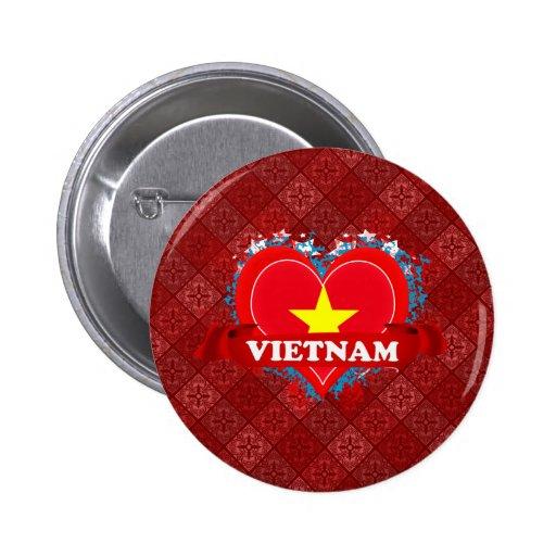 Amor Vietnam del vintage I Pin Redondo 5 Cm