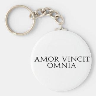 Amor Vincit Omnia Keychain