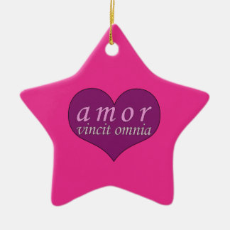 Amor Vincit Omnia Love Conquers All Valentines Day Christmas Tree Ornament