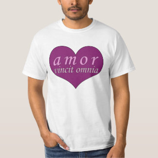 Amor Vincit Omnia Love Conquers All Valentines Day T-Shirt