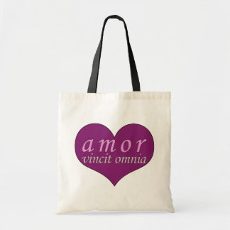 Amor Vincit Omnia Love Conquers All Valentines Day Tote Bag