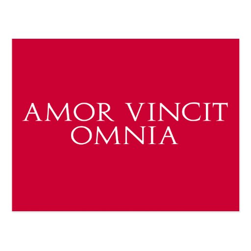 Amor Vincit Omnia Postcard