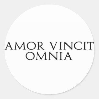 Amor Vincit Omnia Stickers