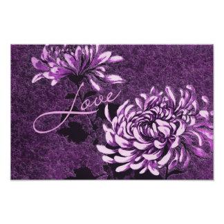 Amor Vintage floral Arte Fotografico