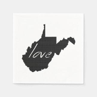Amor Virginia Occidental Servilletas Desechables