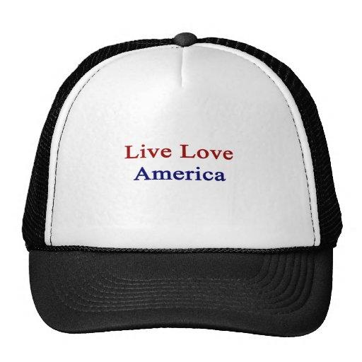 Amor vivo América Gorras