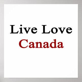 Amor vivo Canadá Poster