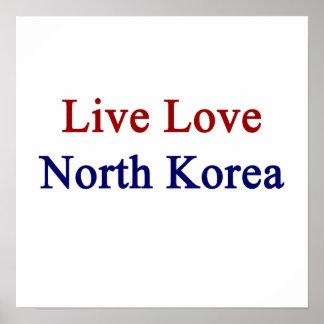 Amor vivo Corea del Norte Poster