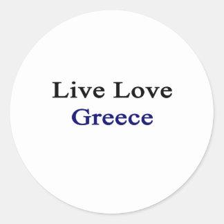 Amor vivo Grecia Pegatina Redonda