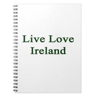 Amor vivo Irlanda Libros De Apuntes