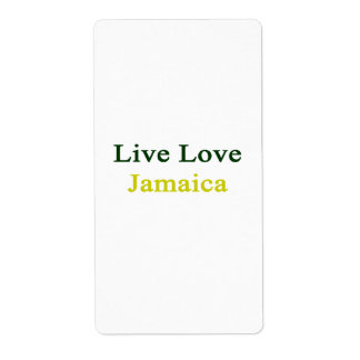 Amor vivo Jamaica Etiquetas De Envío