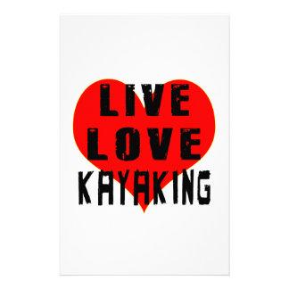 Amor vivo Kayaking Papeleria De Diseño