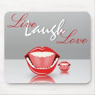 Amor vivo Mousepads inspirado de la risa de la