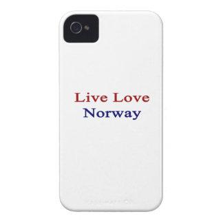 Amor vivo Noruega iPhone 4 Cárcasa