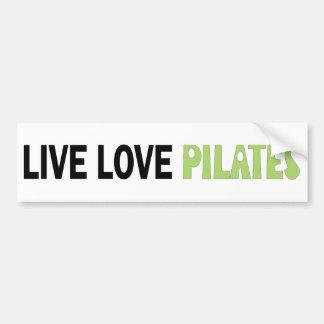 ¡Amor vivo Pilates! ¡Diseño original! Pegatina De Parachoque