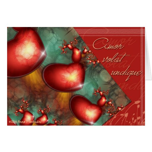 Amor volat undique Card