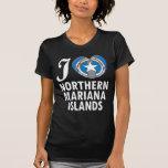 Amor W de Northern Mariana Islands Camiseta