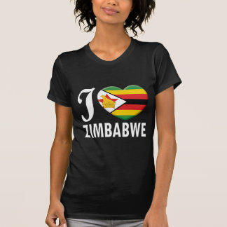 Amor W de Zimbabwe Camisetas