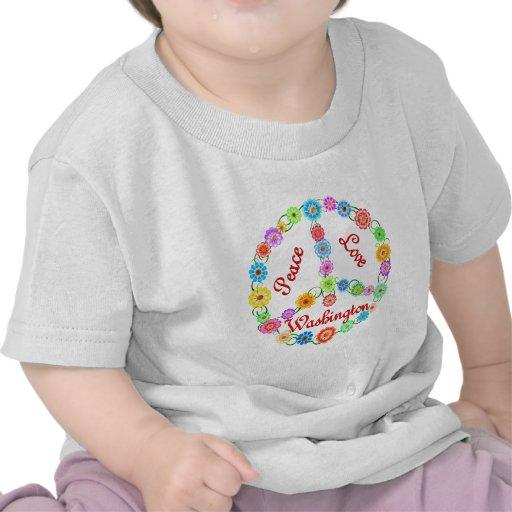Amor Washington de la paz Camiseta