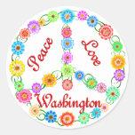 Amor Washington de la paz Etiqueta Redonda