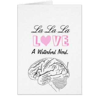 Amor Waterford del La del La del La Tarjeta