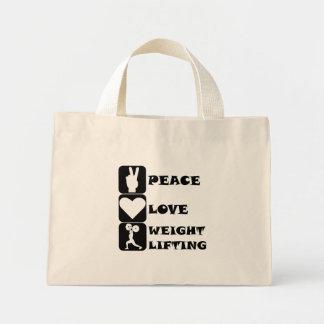 Amor Weightlifing de la paz Bolsa Lienzo