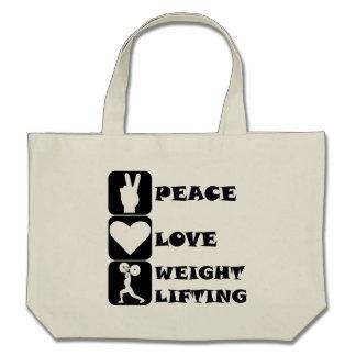 Amor Weightlifing de la paz Bolsas