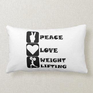 Amor Weightlifing de la paz Almohadas