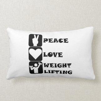 Amor Weightlifing de la paz Cojin