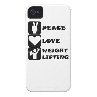 Amor Weightlifing de la paz Case-Mate iPhone 4 Cobertura