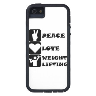 Amor Weightlifing de la paz iPhone 5 Case-Mate Carcasa