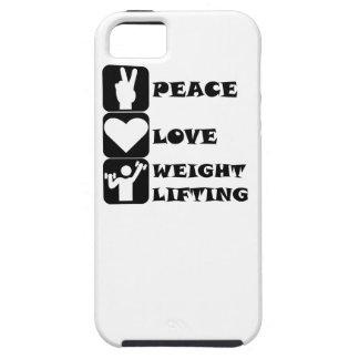 Amor Weightlifing de la paz iPhone 5 Carcasas