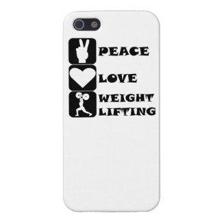 Amor Weightlifing de la paz iPhone 5 Cobertura
