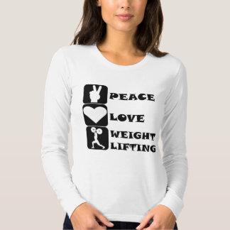 Amor Weightlifing de la paz Playera