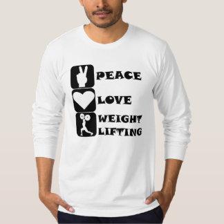 Amor Weightlifing de la paz Playeras