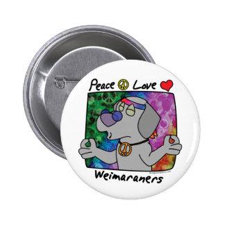 Amor Weimaraner de la paz Pin